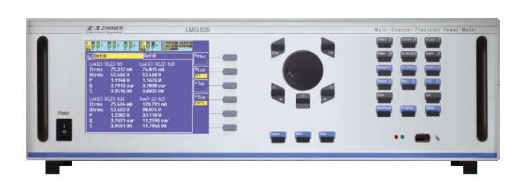 Vatímetros trifásicos de alta precisión serie LMG500